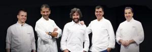 David Muñoz, Diego Guerrero, Óscar Velasco, Paco Roncero y Ramón Freixa