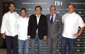 Paco Roncero, Oscar Velasco, Manuel Quintanero, Mariano Perez Claver y Christopher Naylor