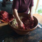 Mezcla de carne y especias para los chorizos