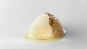 Cebolla blanca, fondo de bacalao y pimiento verde