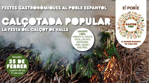 Calçotada popular en el Poble Espanyol